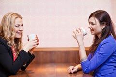 Två unga nätta caucasian flickor Royaltyfri Foto