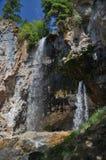 två vattenfall Arkivbilder