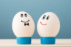 Två vita ägg Royaltyfri Foto