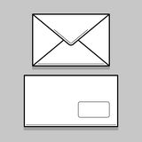 Två vita kuvert för identy design Royaltyfri Foto