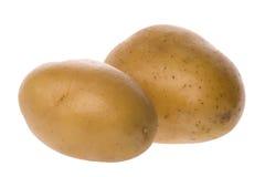 Två vita stekheta potatisar Royaltyfri Fotografi