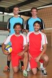 Två volleybolllag Arkivfoto