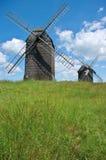 två windmills Royaltyfri Bild