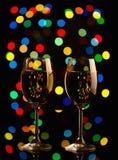 Två wineexponeringsglas Fotografering för Bildbyråer