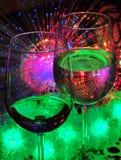 Två wineexponeringsglas Arkivfoton
