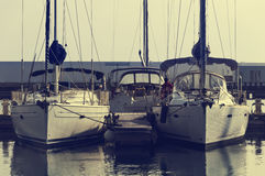 två yachter Royaltyfri Foto