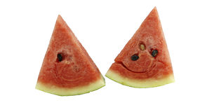 Tvådelad vattenmelon Royaltyfri Bild