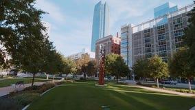 Tvåhundraårsdagen parkerar i oklahoma city - i stadens centrum område arkivfilmer