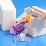 Tvål, kläder och tvätteri Royaltyfri Fotografi
