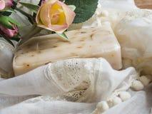 Tvål och steg royaltyfri fotografi