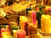 Tvålar på den Istanbul openmarketen Arkivfoto