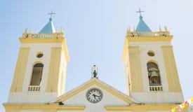 Tvåna står högt klockor och klockan av Catedral Metropolitana Fotografering för Bildbyråer