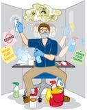 Tvångsmässig tvångsmässig skräck av bakterier Arkivbild