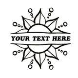 Tvåsidig blommagräns för dekorativ vektor din text här arkivbilder