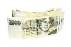 Tvåtusen tjeckiska kronor Arkivbild