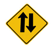 Tvåvägstrafiktecken Royaltyfria Bilder
