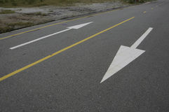 tvåvägsväg arkivbild