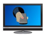 TV à télécommande illustration de vecteur