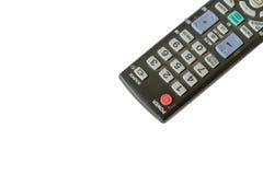 TV à télécommande d'isolement sur le fond blanc Image stock