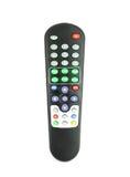 TV à télécommande sur le blanc Images libres de droits