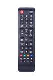 TV à télécommande sur le fond blanc Image stock