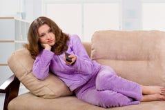 TV étant ennuyeuse Photo libre de droits