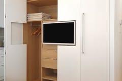 TV και ντουλάπα Στοκ Εικόνες