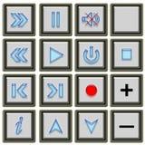 TV κουμπιών Στοκ εικόνες με δικαίωμα ελεύθερης χρήσης