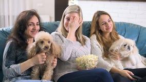 TV ρολογιών στο σπίτι απόθεμα βίντεο