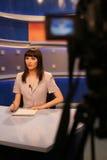TV στούντιο δημοσιογράφων Στοκ Φωτογραφία
