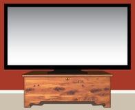 TV στο στήθος κέδρων διανυσματική απεικόνιση