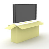 TV συσκευασίας κιβωτίων Στοκ Φωτογραφία