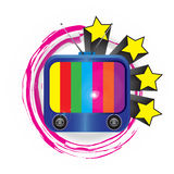TV-φωτεινά χρώματα τόσο χαριτωμένα Στοκ εικόνες με δικαίωμα ελεύθερης χρήσης