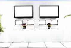 TV δύο στο δωμάτιο έκθεσης στοκ εικόνες