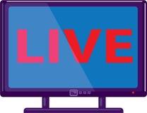 TV в реальном маштабе времени Стоковая Фотография RF