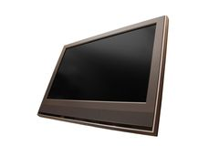 TV [1]. TV led panel over white with body and screen clipping path Stock Photo