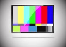 Tv. A slim tv color bar isolated Royalty Free Stock Photography