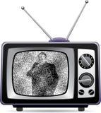 αναδρομική καθορισμένη TV Στοκ εικόνα με δικαίωμα ελεύθερης χρήσης