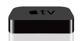 TV μήλων Στοκ Εικόνα