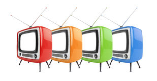 TV Στοκ Φωτογραφίες