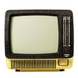 TV. 70th retro TV,  background also available in orange Royalty Free Stock Image