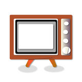 TV. Old TV. Illustration of the good old retro TV without remote Royalty Free Stock Photography