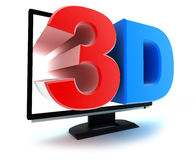 TV 3d Stock Image