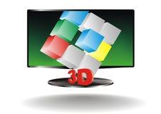 tv 3d Vektor Illustrationer