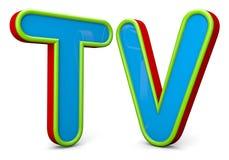 TV Fotografia Stock Libera da Diritti