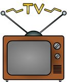 TV. An illustration of a television Royalty Free Stock Photos