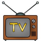 TV. An illustration of a television Royalty Free Stock Images