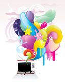 Tv abstract color  Stock Images