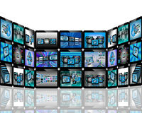 TV abstraction. Abstract view of the many different images to the Internet for designers for various necessities Stock Images