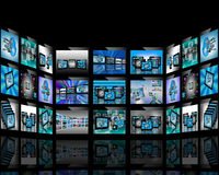 TV abstraction. Abstract view of the many different images to the Internet for designers for various necessities Royalty Free Stock Photos